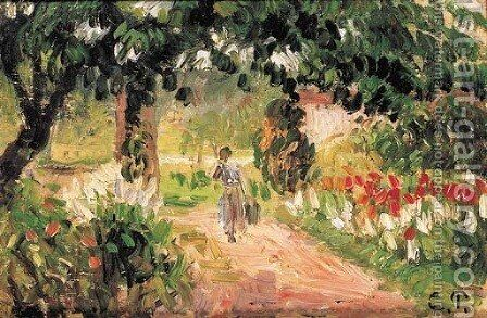 Jardin a Eragny by Camille Pissarro - Reproduction Oil Painting