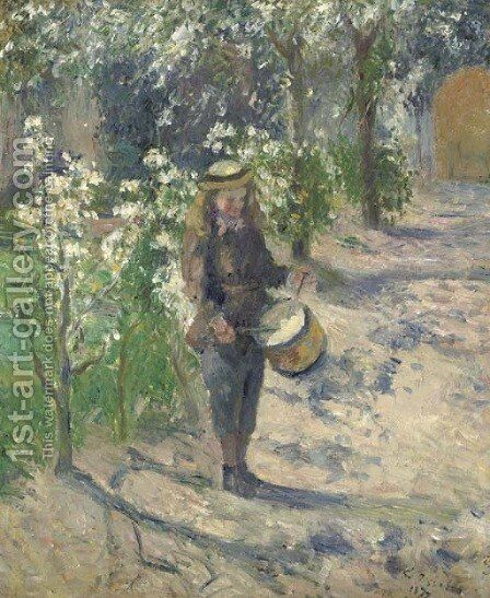 L'enfant au tambour by Camille Pissarro - Reproduction Oil Painting