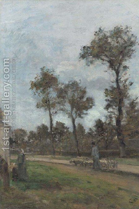 Louveciennes 2 by Camille Pissarro - Reproduction Oil Painting