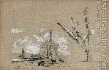 Paysage by Camille Pissarro - Reproduction Oil Painting