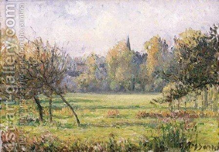 Paysage a Bazincourt 2 by Camille Pissarro - Reproduction Oil Painting