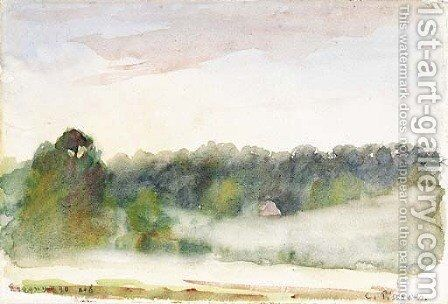 Paysage a Eragny by Camille Pissarro - Reproduction Oil Painting