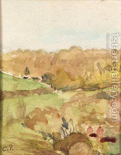Paysage du Midi (Landscape in the Midi) by Camille Pissarro - Reproduction Oil Painting