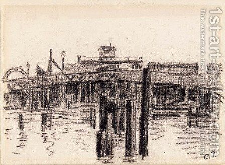 Pont by Camille Pissarro - Reproduction Oil Painting