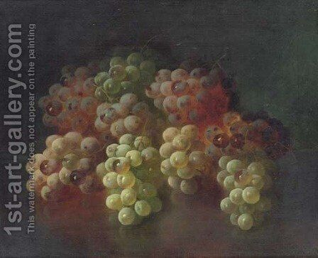 Still Life with Grapes 2 by Carducius Plantagenet Ream - Reproduction Oil Painting