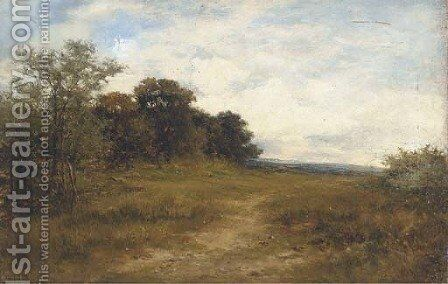 On the hill, Alkham, Kent, a sketch from nature by Carl Brennir - Reproduction Oil Painting