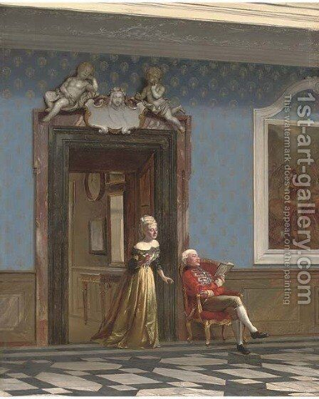 In the palace by Carl Christian Andersen - Reproduction Oil Painting