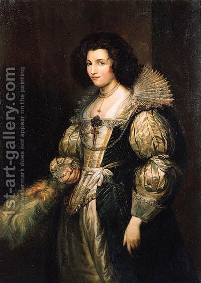 Portrait of Maria Louisa de Tassis (1611-1638) by Carl Faust - Reproduction Oil Painting
