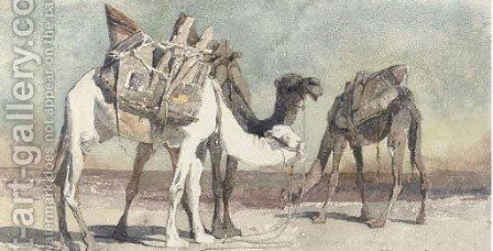 Camels at Damascus by Carl Haag - Reproduction Oil Painting