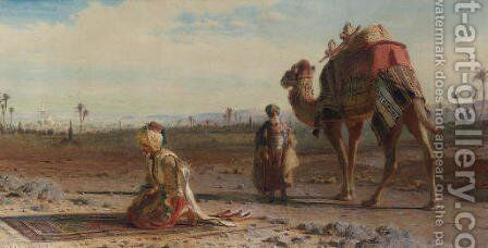 La illah ill allah (There is no god, but god) by Carl Haag - Reproduction Oil Painting