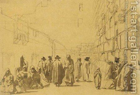 The Wailing Wall, Jerusalem by Carl Haag - Reproduction Oil Painting