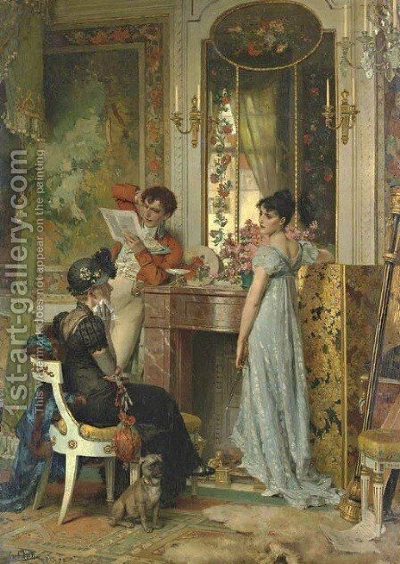 A Letter of Importance by Carl Heinrich Hoff - Reproduction Oil Painting