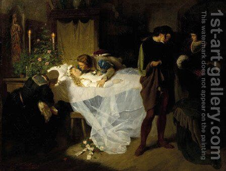 The Sleeping Beauty by Carl Kronberger - Reproduction Oil Painting