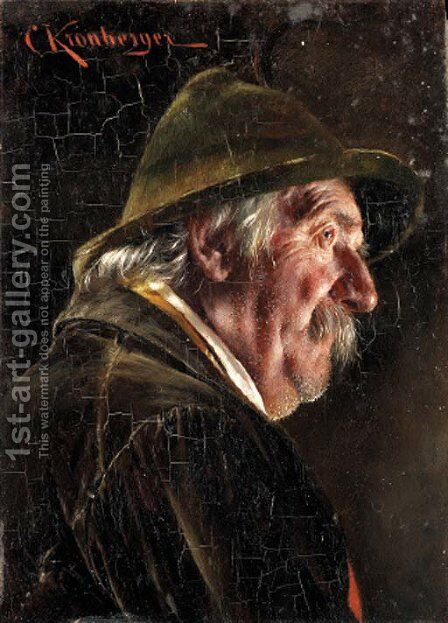 Tyrolean peasant by Carl Kronberger - Reproduction Oil Painting