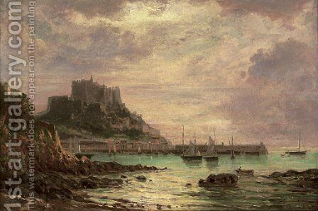 Gorey Castle, Jersey by Carl Morgenstern - Reproduction Oil Painting
