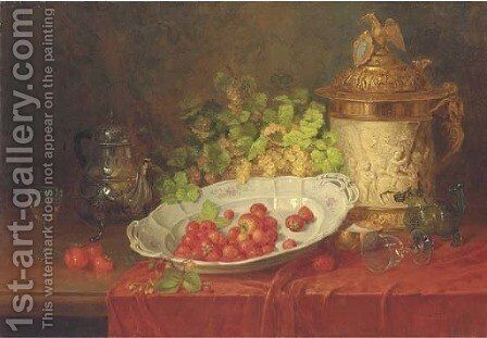 Strawberries by Carl Thoma-Hofele - Reproduction Oil Painting
