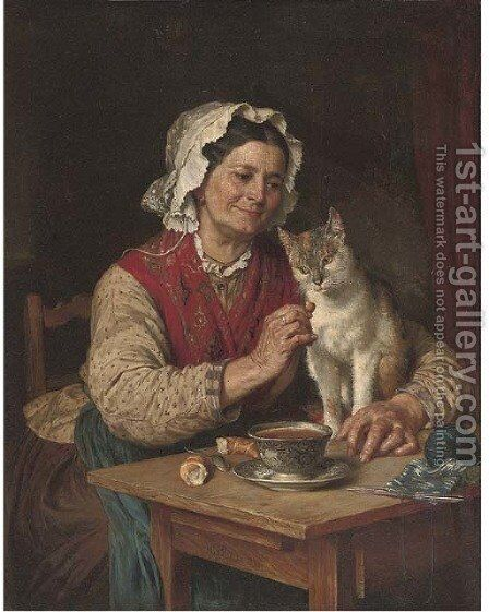A tempting treat by Carl Von Blaas - Reproduction Oil Painting