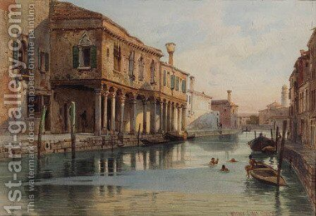 Venice by Carl Friedrich H. Werner - Reproduction Oil Painting