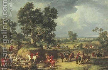 Chasse a courre A stag hunt by Carle Vernet - Reproduction Oil Painting