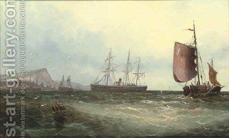 Off Dover by Carleton Grant - Reproduction Oil Painting