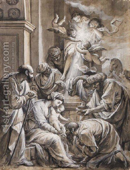 The Adoration of the Magi by Carlo Alberto Baratta - Reproduction Oil Painting