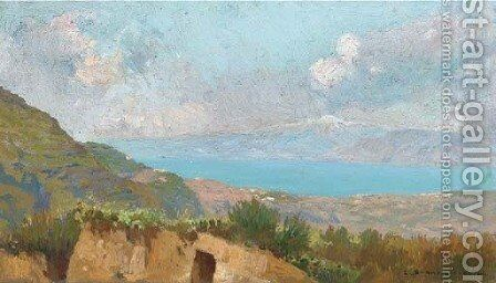 The French coast by Carlo Brancaccio - Reproduction Oil Painting