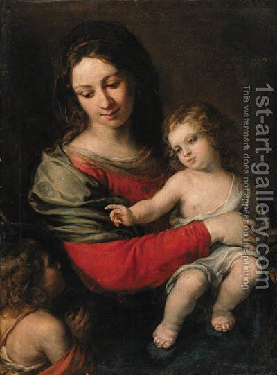 The Madonna and Child with the Infant Saint John the Baptist by Carlo Francesco Nuvolone - Reproduction Oil Painting