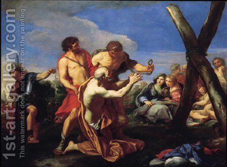 Saint Andrew led to the Cross of Martyrdom by Carlo Maratta or Maratti - Reproduction Oil Painting