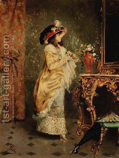 A Final Touch by Casimiro Tomba - Reproduction Oil Painting