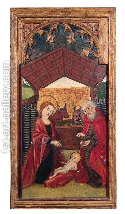 The Nativity by Castilian School - Reproduction Oil Painting