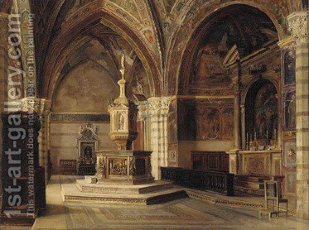 A church interior, Siena by Catherine M. Wood - Reproduction Oil Painting