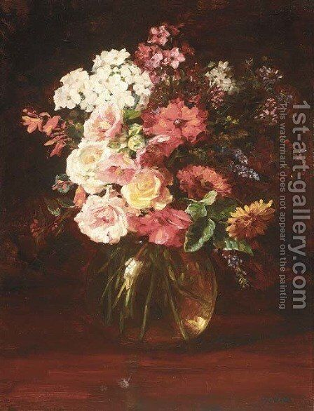 A Summer bouquet by Catherine M. Wood - Reproduction Oil Painting