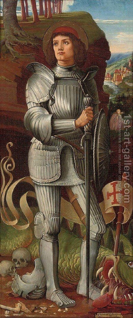 Saint George by Catherine Weekes - Reproduction Oil Painting