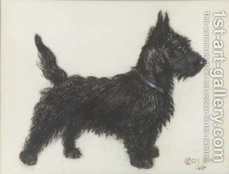 A Scottie by Cecil Charles Aldin - Reproduction Oil Painting