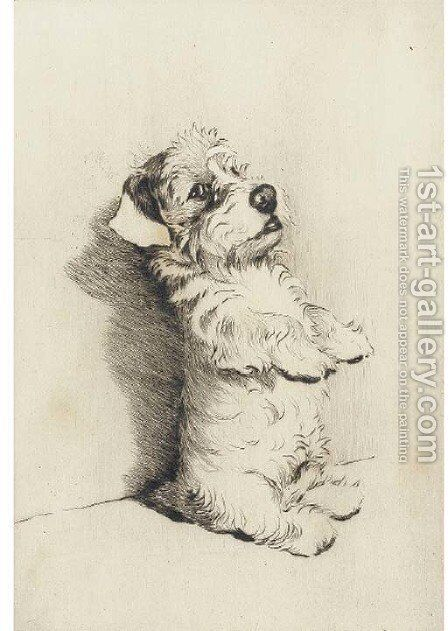 Begging for a treat by Cecil Charles Aldin - Reproduction Oil Painting