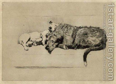 Sleeping partners by Cecil Charles Aldin - Reproduction Oil Painting