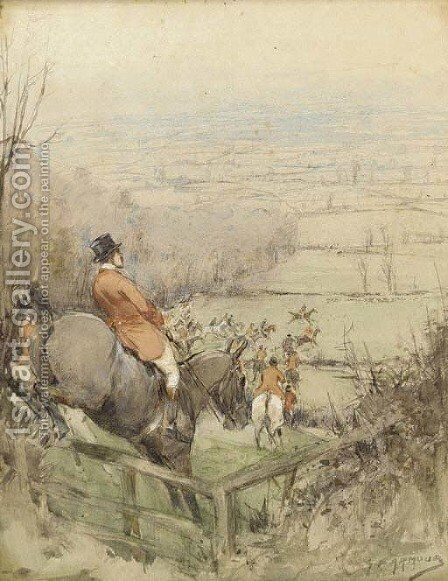 Closing in by Cecil Charles Aldin - Reproduction Oil Painting