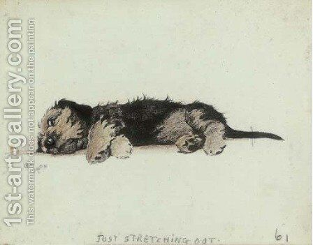 Just stretching out by Cecil Charles Aldin - Reproduction Oil Painting