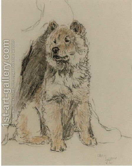 Study of a chow chow by Cecil Charles Aldin - Reproduction Oil Painting