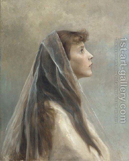 Beatific beauty by Cecil van Haanen - Reproduction Oil Painting
