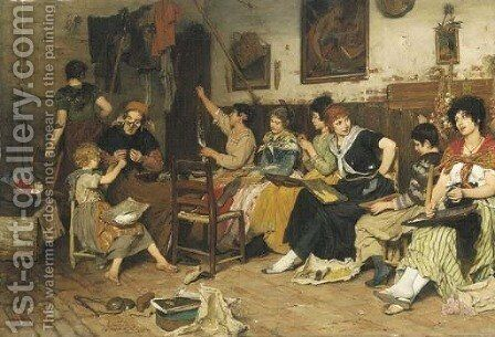 The pearl stringers by Cecil van Haanen - Reproduction Oil Painting