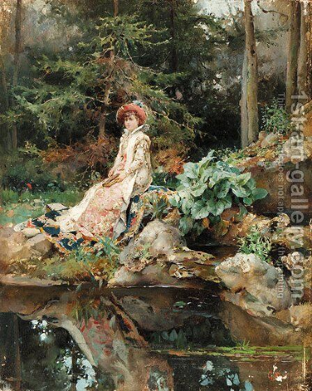 Detti, C. A. by Cesare-Auguste Detti - Reproduction Oil Painting