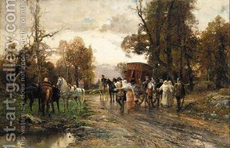A safe passage by Cesare-Auguste Detti - Reproduction Oil Painting