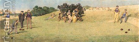 A game of bowls by Charles Altamont Doyle - Reproduction Oil Painting