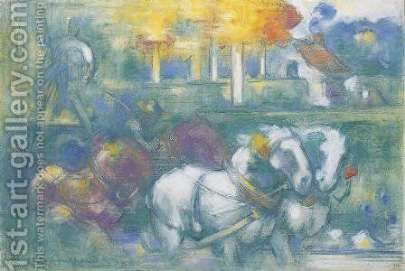 Le triomphe des moissonneurs by Charles Angrand - Reproduction Oil Painting