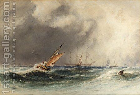 Off Boulogne by Charles Bentley - Reproduction Oil Painting