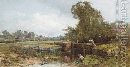 The lock by Charles Branwhite - Reproduction Oil Painting