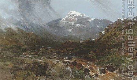 Mountainous landscape with rocky stream by Charles Branwhite - Reproduction Oil Painting