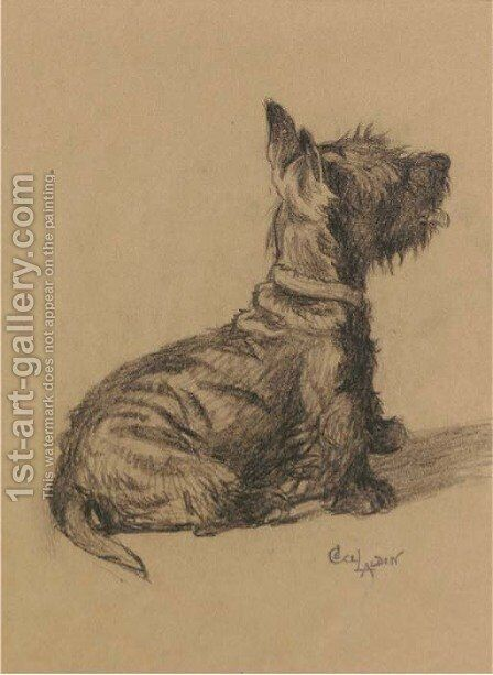 A Scottie 2 by Cecil Charles Aldin - Reproduction Oil Painting