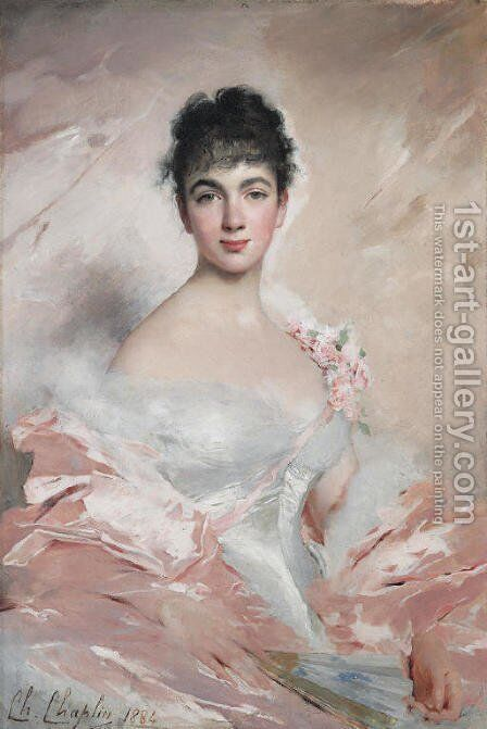 Femme en rose by Charles Chaplin - Reproduction Oil Painting